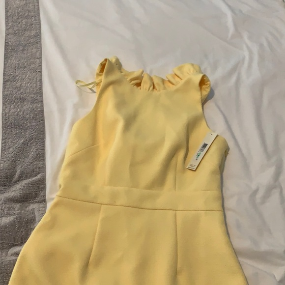 Eliza J light yellow dress